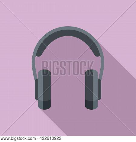 Headset Microphone Icon Flat Vector. Gamer Headphone. Customer Phone
