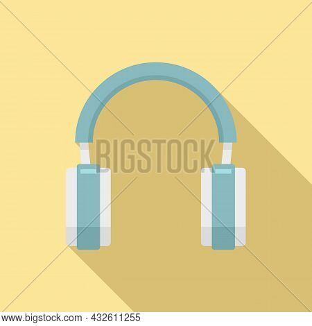 Headset Pictogram Icon Flat Vector. Gamer Headphone. Service Center