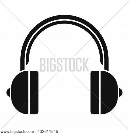 Headset Call Icon Simple Vector. Phone Service. Gamer Microphone