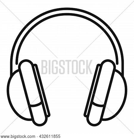 Gaming Headset Icon Outline Vector. Gamer Headphone. Customer Microphone