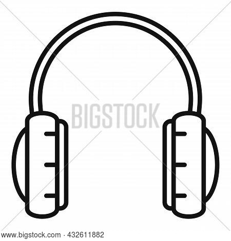 Person Headset Icon Outline Vector. Gamer Headphone. Service Center