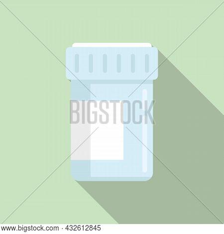 Medical Probiotic Icon Flat Vector. Lactobacillus Gut. Good Bacteria