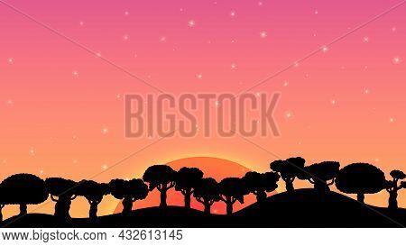 2 Sunset Background