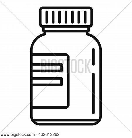 Bio Lactic Jar Icon Outline Vector. Prebiotic Microbe. Good Bacterium