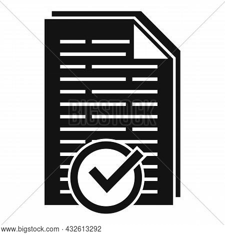 Approved Product Review Icon Simple Vector. Customer Evaluation. Feedback Service