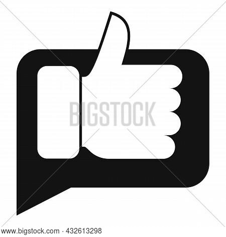 Thumb Up Product Evaluation Icon Simple Vector. Star Feedback. Online Customer