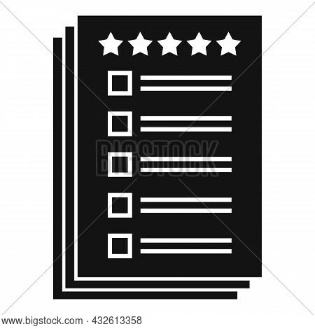 Client Paper Review Icon Simple Vector. Product Evaluation. Customer Experience
