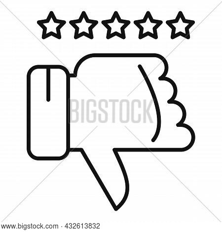 Negative Product Review Icon Outline Vector. Online Evaluation. Customer Star