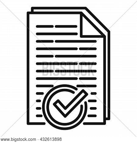 Approved Product Review Icon Outline Vector. Customer Evaluation. Feedback Service