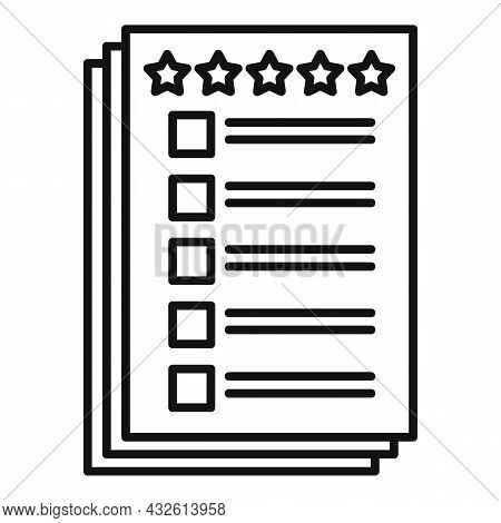 Client Paper Review Icon Outline Vector. Product Evaluation. Customer Experience
