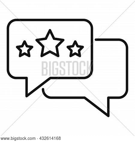Review Chat Icon Outline Vector. Online Evaluation. App Service
