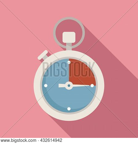 Stopwatch Interval Icon Flat Vector. Stop Clock. Watch Timer