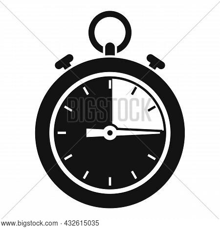 Stopwatch Icon Simple Vector. Stop Clock. Watch Timer