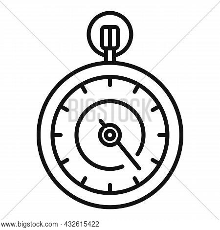 Second Stopwatch Icon Outline Vector. Watch Timer. Countdown Clock