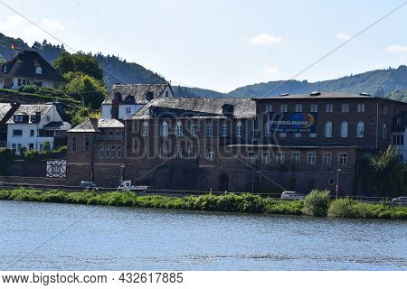 Alf, Germany September 2nd 2021: Old Stone Built Winery At The Mosel