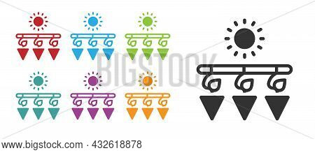 Black Drying Grapes Icon Isolated On White Background. Dried Grapes. Set Icons Colorful. Vector