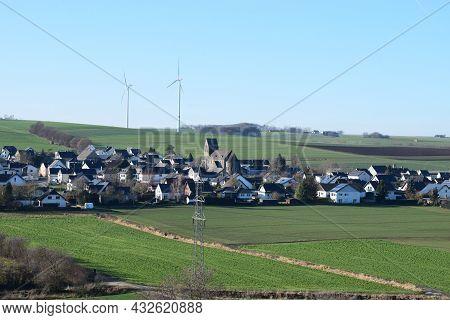 Village Alzheim, Part Of Small Town Mayen, Eifel