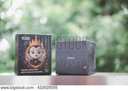 Bangkok, Thailand - September 11, 2021 : New Blind Box Collection, Miniso Famous Disney Series Queen