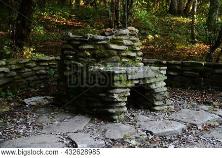 Structures Made Of Wild Stone, Stone Structures In The Forest, Stone Structures In The Mountains.