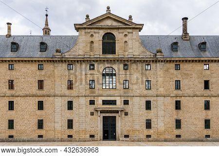 San Lorenzo De El Escorial, Spain - September 8, 2021: Royal Site Of San Lorenzo De El Escorial Or M