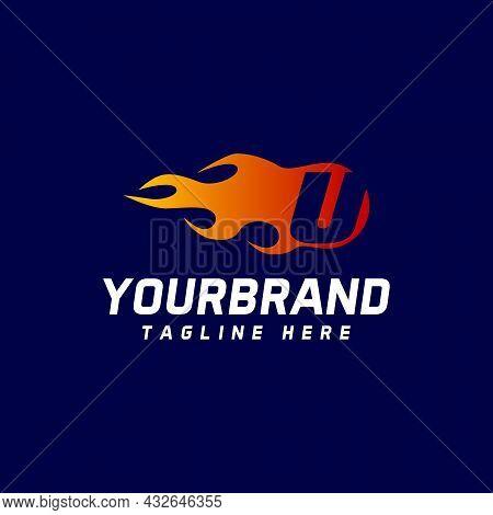 Fire U Letter Design. Vector Logo Design Template. Icon Alphabet Concept