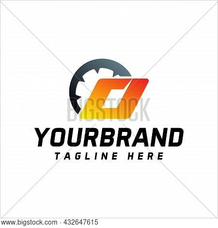 Letter O Design Equipped With Speedometer, Letter Logo Icon With Vector Illustration
