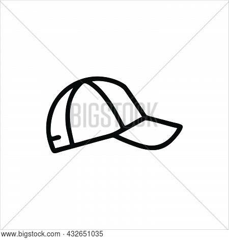 Baseball Cap Icon Isolated On White Background From Baseball Collection. Baseball Cap Symbol For Log