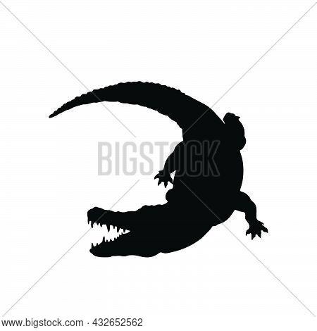 Crocodile Icon Style Sign For Mobile Concept And Web Design. Crocodile  Vector Icon. Symbol, Logo Il
