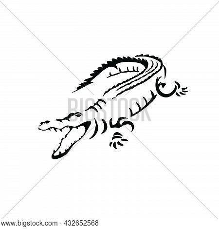 Crocodile Icon. Style Sign For Mobile Concept And Web Design. Crocodile Vector Icon. Symbol