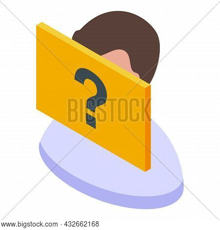 Question Avatar Icon Isometric Vector. Anonymous Person. Unknown People
