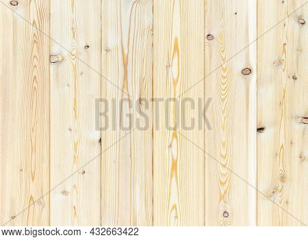 Pine Boards With Knots And A Pronounced Texture.