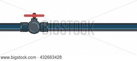 Pipeline Tap. Water Fittings. Liquid Or Gas Supply Symbol. Pipeline For Various Purposes. Illustrati
