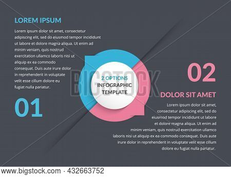 Infographic Template With Two Steps Or Options, Vector Eps10 Illustration