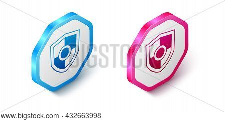 Isometric Shield Icon Isolated On White Background. Guard Sign. Security, Safety, Protection, Privac
