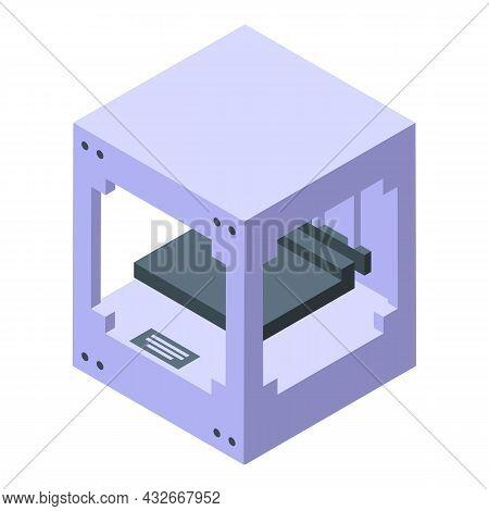 Bio Science Printer Icon Isometric Vector. Medical Engineering. Human Bioprinting