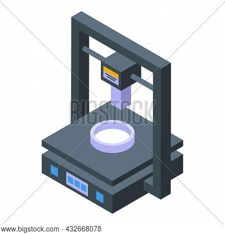 Chemistry Medical Printer Icon Isometric Vector. Science Bioprinting. Bio Human
