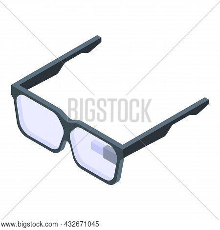 Vr Smart Glasses Icon Isometric Vector. Future Glass. Virtual Tech