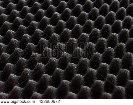 Texture Of The Acoustic Foam Insert Close-up