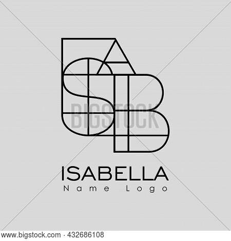 Isabella Name Logo Modern Illustration Creative Name Logo Design
