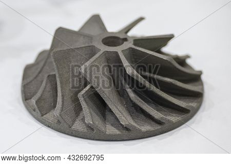 The Turbine Parts Form Metal 3d Printer  Machine. The Hi Technology Metal 3d Model Process By Additi