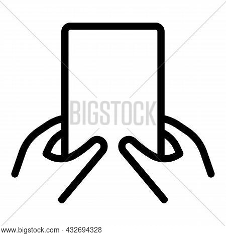 Phone Taking Selfie Icon Outline Vector. Hand Smartphone. Smart Camera