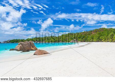 The Most Beautiful Anse Lazio Beach On Praslin Island, Seychelles