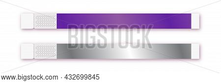 Bracelet Vector Template Isolated On Background For Event Access, Id Fan Zone Or Vip, Party Entrance