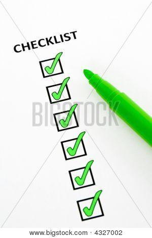 Lista de verificação verde