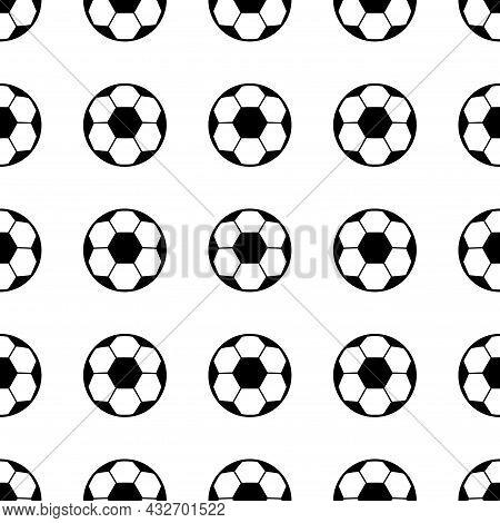 Backgroud Of Soccer, Football Ball Symbol, Single Goal Isolated Design Vector Illustration, Web Game