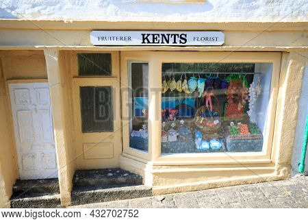 Godshill Model Village, Isle Of Wight, 2021.  Replica Model Of A Local Village Shop With Detail On W