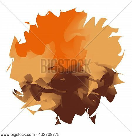 Abstract Colorful Bright Watercolor Spot Isolated On White Background. Autumn Vector Illustration. A