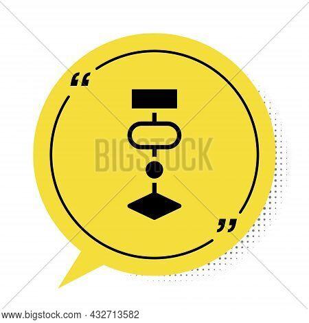 Black Algorithm Icon Isolated On White Background. Algorithm Symbol Design From Artificial Intellige