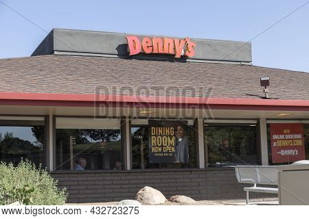 Prescott - Circa September 2021: Denny's Fast Casual Restaurant And Diner. Dennys Has Been A Late Ni