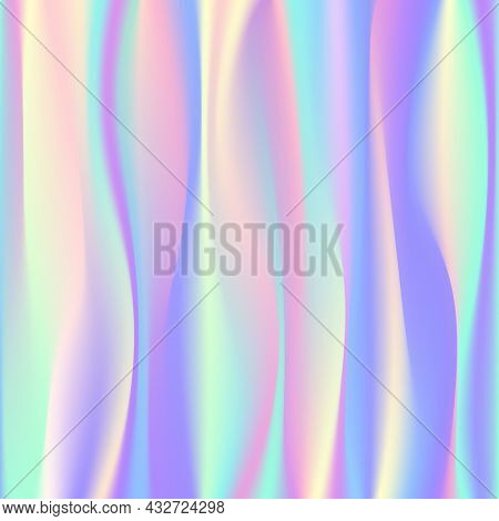 Defocused Abstract Wavy Blur Background. Vector Image